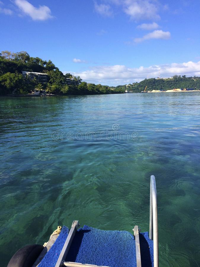 Scène van Haven Vila Harbour, Efate, Vanuatu stock foto