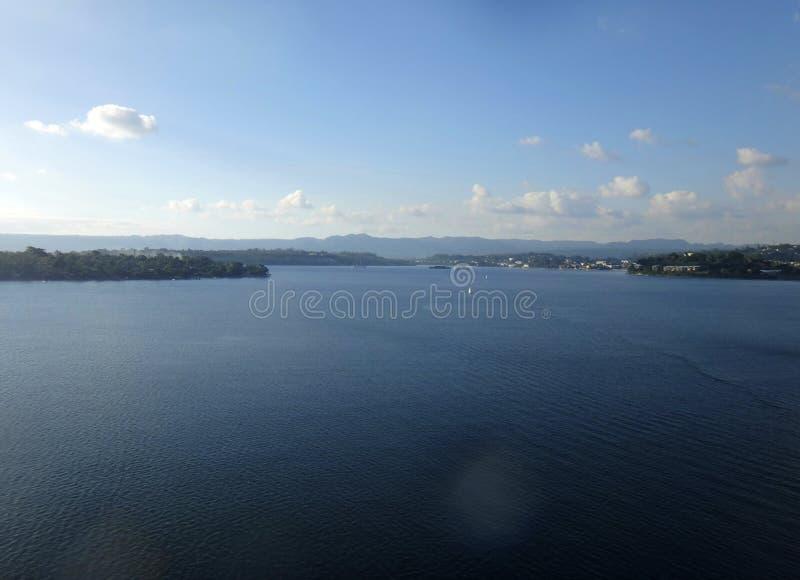 Scène van Haven Vila Harbour, Efate, Vanuatu stock afbeelding