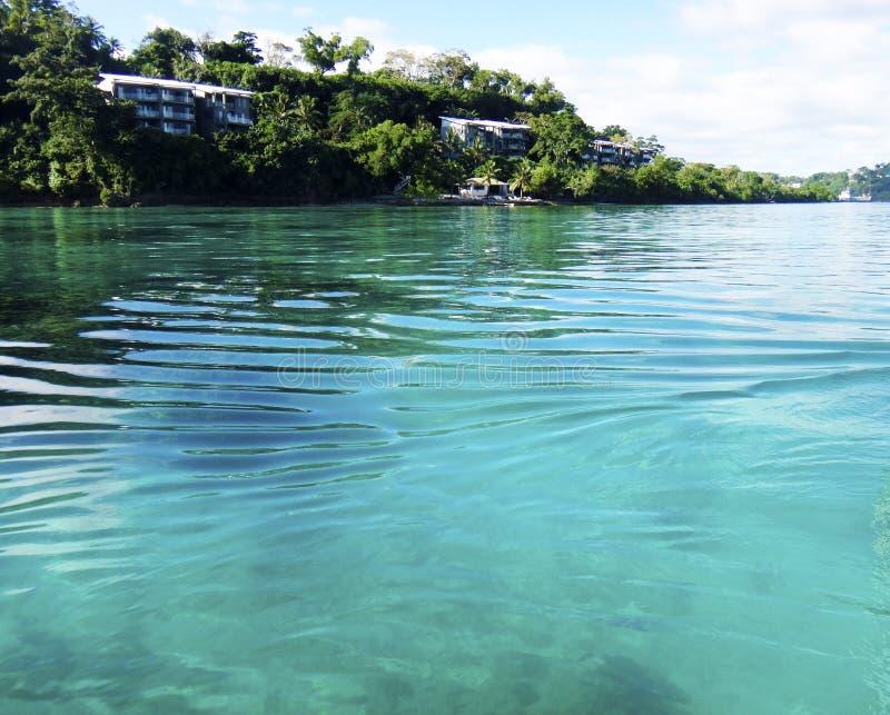 Scène van Haven Vila Harbour, Efate, Vanuatu stock foto's
