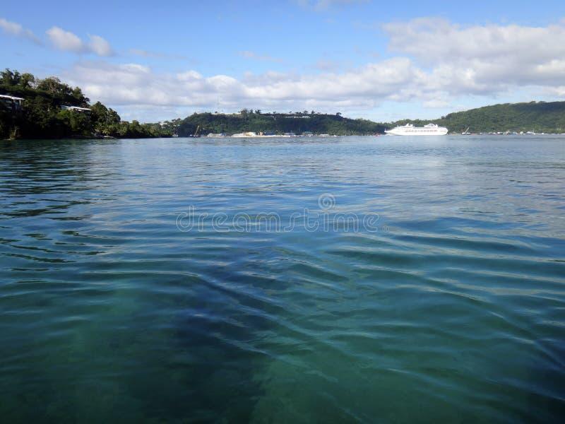Scène van Haven Vila Harbour, Efate, Vanuatu stock afbeeldingen