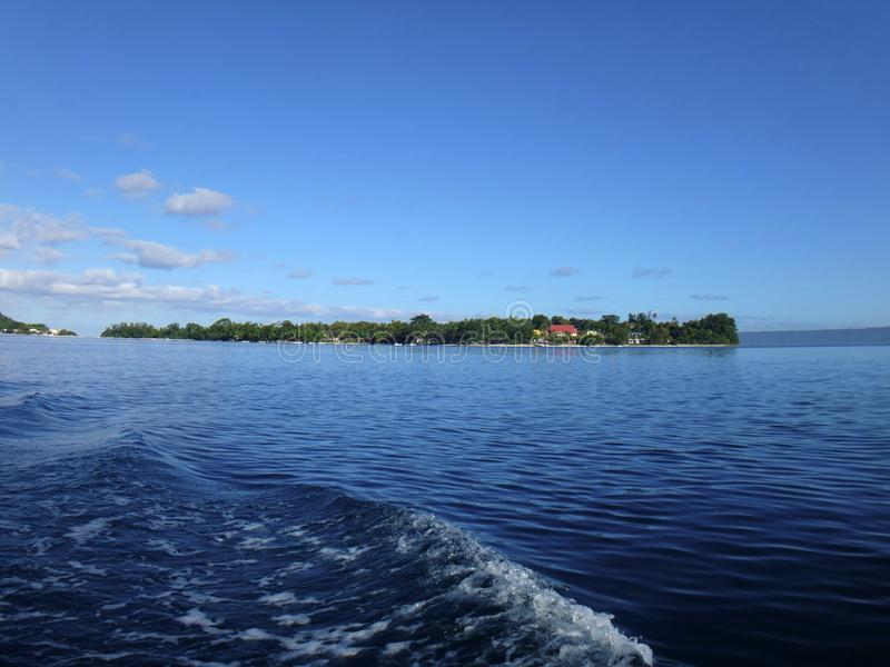 Scène van Haven Vila Harbour, Efate, Vanuatu royalty-vrije stock fotografie