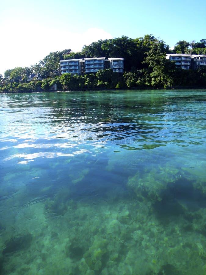 Scène van Haven Vila Harbour, Efate, Vanuatu royalty-vrije stock foto's