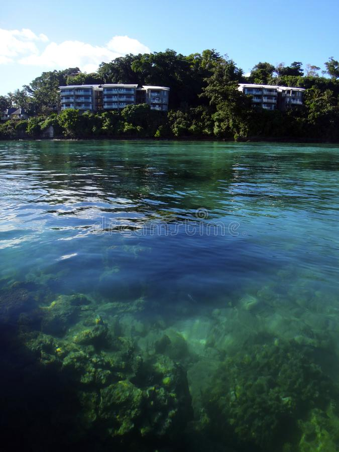 Scène van Haven Vila Harbour, Efate, Vanuatu royalty-vrije stock foto
