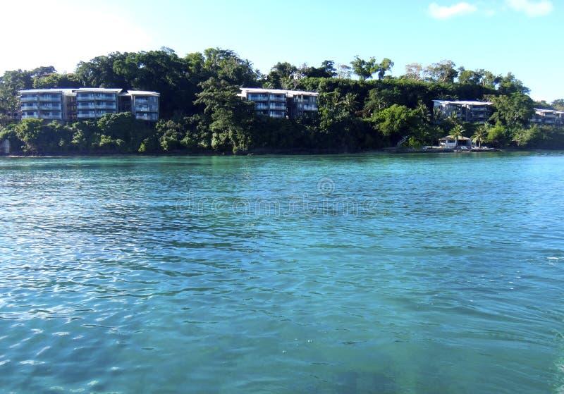 Scène van Haven Vila Harbour, Efate, Vanuatu royalty-vrije stock afbeeldingen