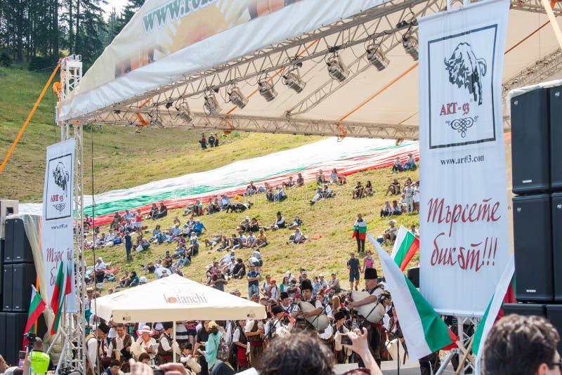 Scènefestival Rozhen 2015 in Bulgarije stock foto's
