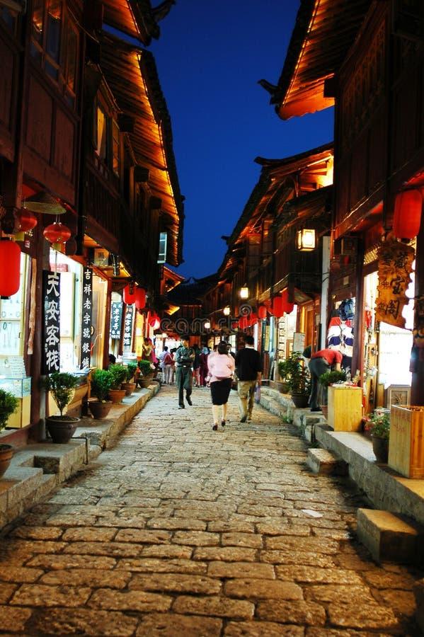 Scènes de nuit de Lijiang photos libres de droits