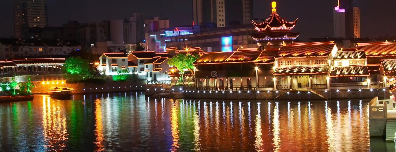 Scènes de nuit de Suzhou photo libre de droits