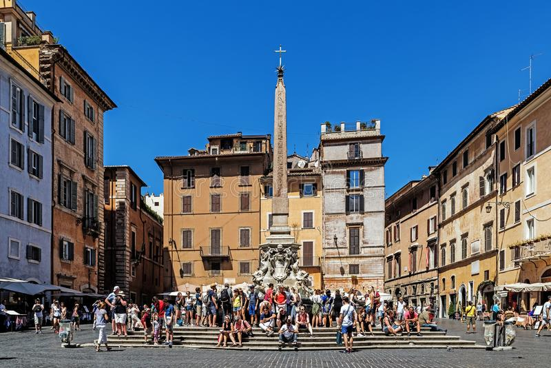 Scènes du della Rotonda de Piazza image libre de droits