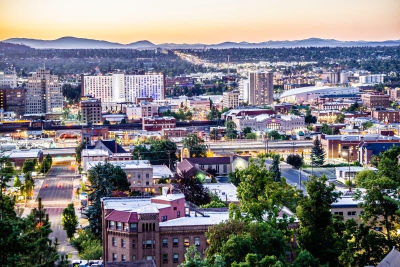 Scènes rond Spokane Washington de stad in stock fotografie