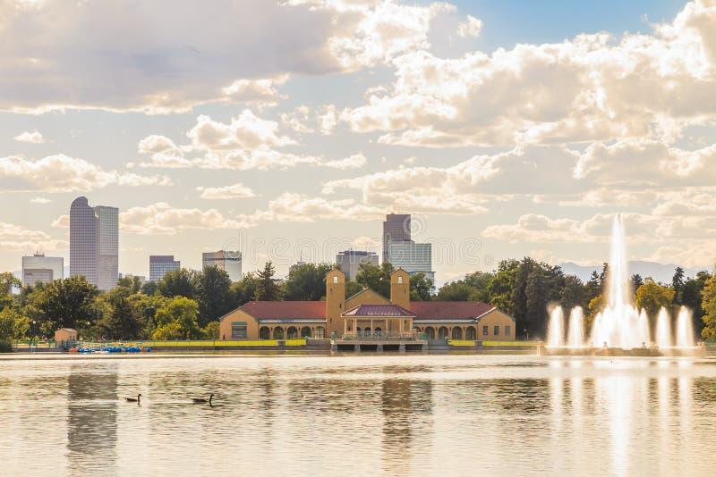 Scénique de l'horizon de Denver Colorado photo libre de droits