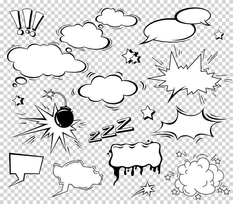 Scénographie d'effet sonore pour la bande dessinée Nuage de coup de bande dessinée, bruit de prisonnier de guerre, bruit de priso illustration stock