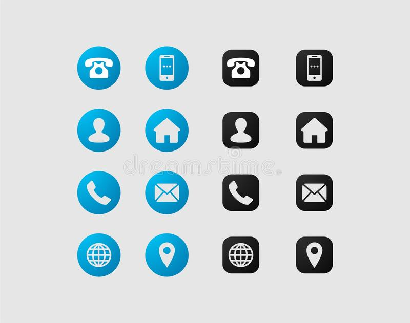 Scénographie d'icône de carte de visite professionnelle de visite illustration stock