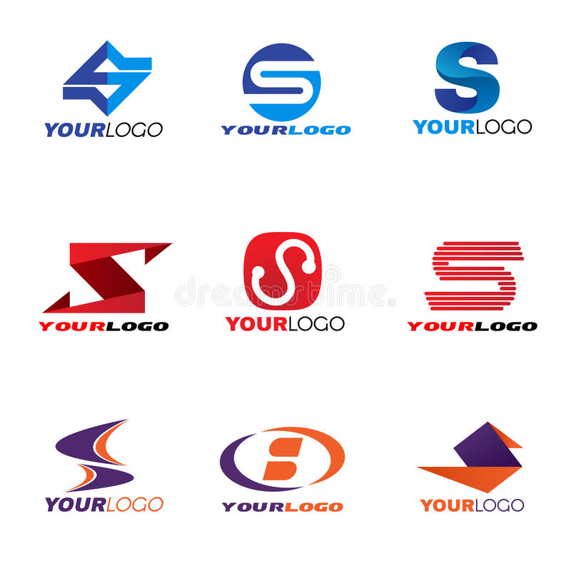 Scénographie de vecteur de logo de la lettre S illustration de vecteur