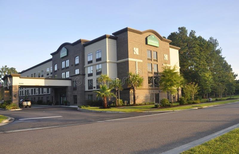 SC Чарлстона, 7-ое августа: Здание гостиницы от Чарлстона в Южной Каролине стоковое фото rf