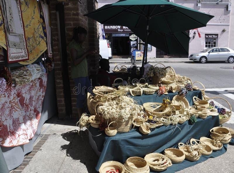 SC Чарлстона, 7-ое августа: Стойка входа рынка города от Чарлстона в Южной Каролине стоковое фото
