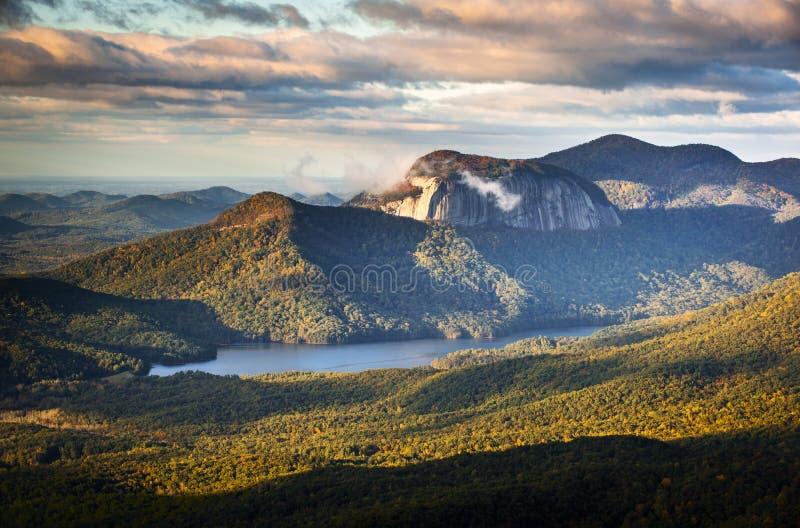 Sc bleu de la Caroline du Sud Ridge de stationnement d'état de roche de Tableau image stock