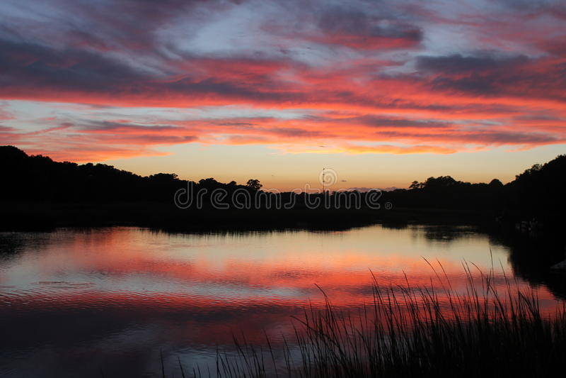 Sc d'île de Johns de coucher du soleil photo stock