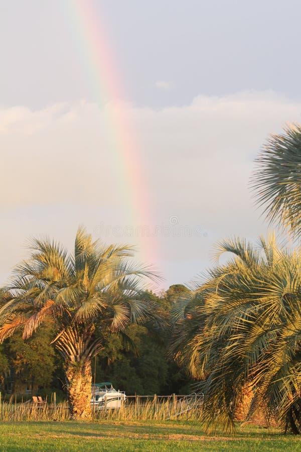 Sc d'île de Johns de coucher du soleil images libres de droits