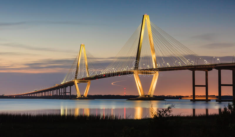Sc de Charleston de pont d'Arthur Ravenel New Cooper River images stock