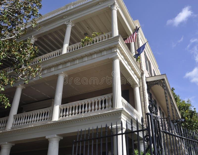 SC de Charleston, el 7 de agosto: Casa colonial histórica de Charleston en Carolina del Sur fotografía de archivo