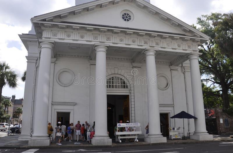 SC de Charleston, el 7 de agosto: St Michaels de la iglesia de Charleston en Carolina del Sur foto de archivo libre de regalías