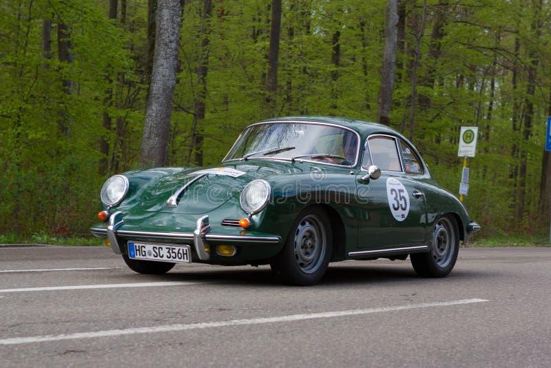 SC 1965 de Porsche 356 no ADAC Wurttemberg Rallye histórico 2013 fotos de stock