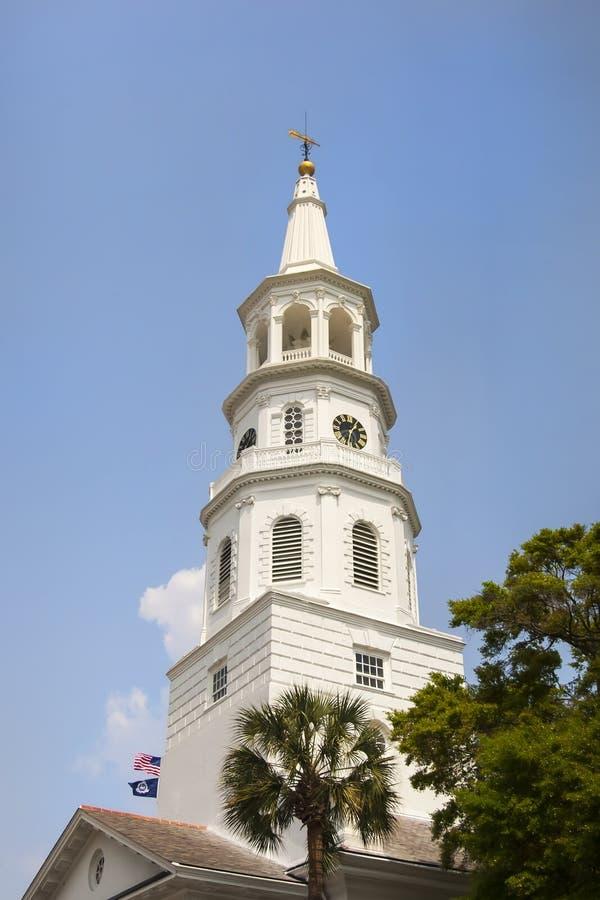 Sc di Charleston della chiesa del ` s di St Michael fotografia stock