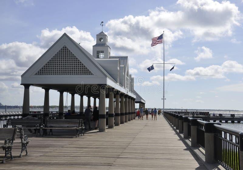 Sc di Charleston, il 7 agosto: Pontone di lungomare da Charleston in Carolina del Sud immagini stock