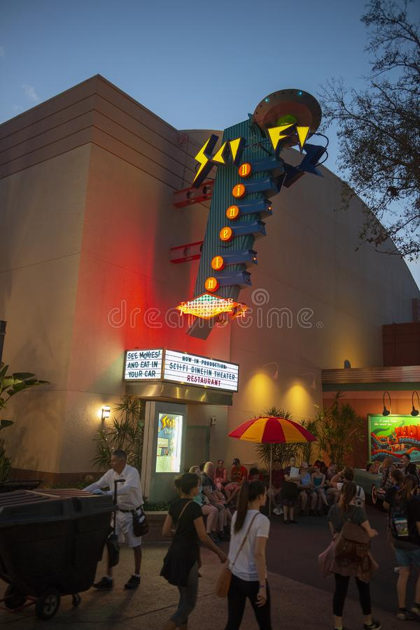 Sc.i-Diner van FI, Disney World, Reis, Hollywood-Studio's stock foto's