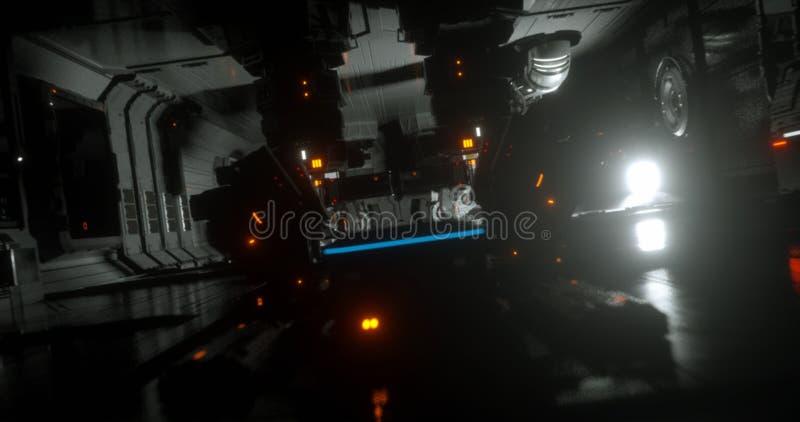 sc.i-FI spacesship 27 royalty-vrije illustratie