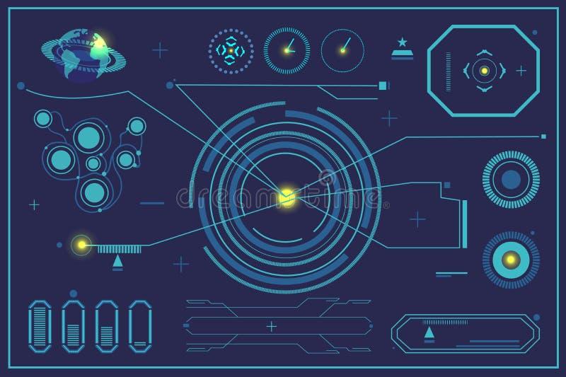 Sc.i-het futuristische gebruikersinterface HUD van FI vector illustratie