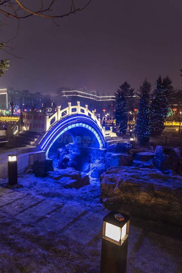 Sc?ne de nuit de parc de travail de la Chine Tchang-tchoun photo libre de droits