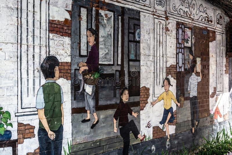 Sc?ne vivante sur les rues de Changha? photographie stock