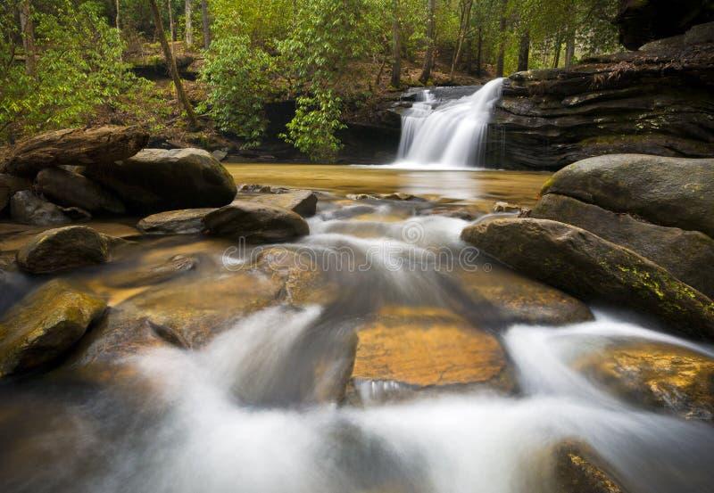 Sc-Wasserfall-entspannende Landschaftsblaue Ridge-Natur stockfotos