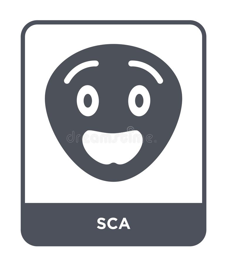 sca icon in trendy design style. sca icon isolated on white background. sca vector icon simple and modern flat symbol for web site royalty free illustration