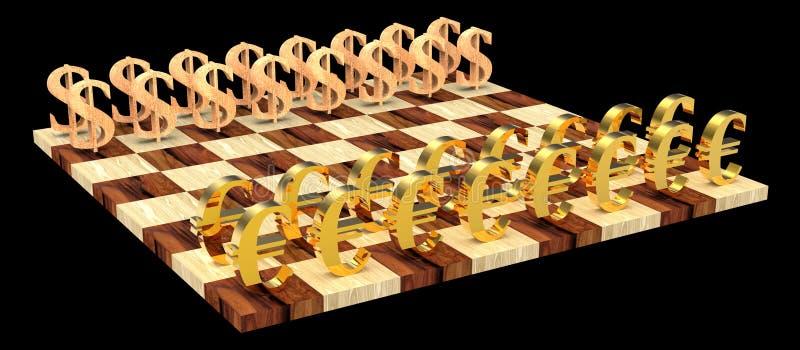 scacchi 3D immagine stock libera da diritti