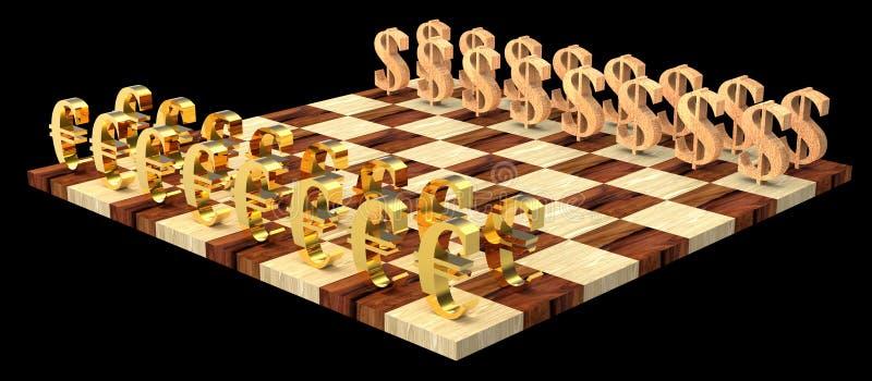 scacchi 3D fotografia stock libera da diritti