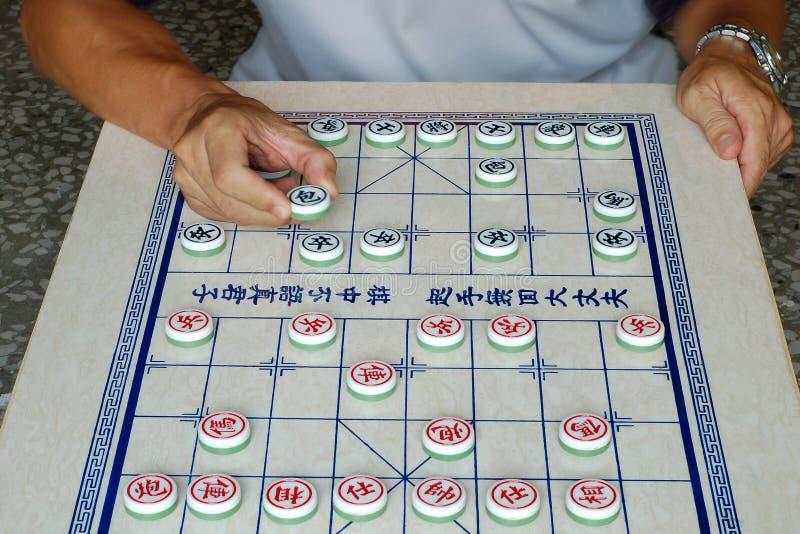 Scacchi del cinese del gioco fotografia stock