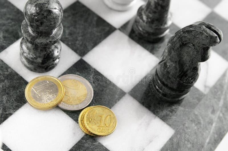Scacchi euro fotografie stock libere da diritti