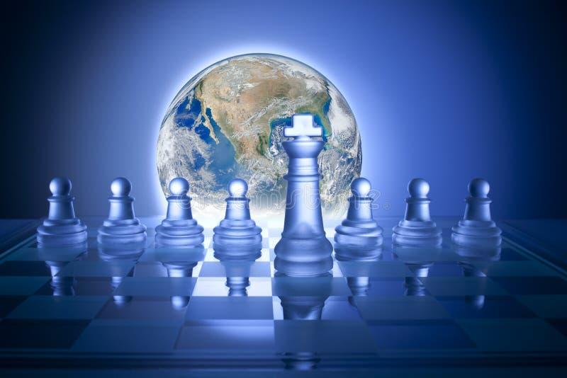 Scacchi globali di strategia aziendale illustrazione vettoriale