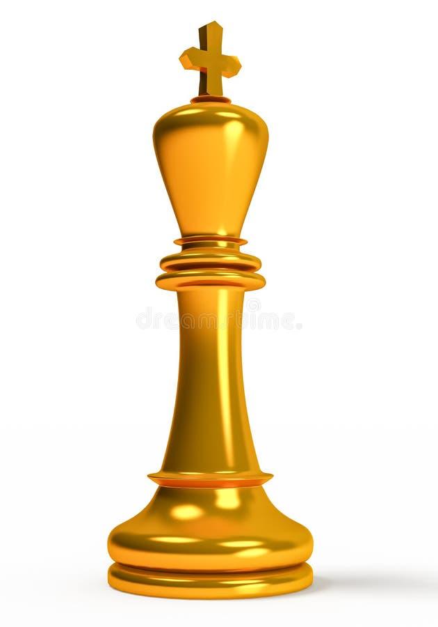 Scacchi, re dorato royalty illustrazione gratis