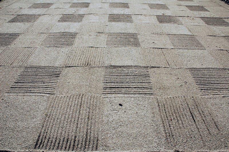 Scacchiera della sabbia fotografie stock