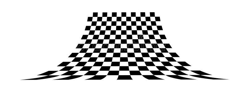 Scacchiera di prospettiva royalty illustrazione gratis