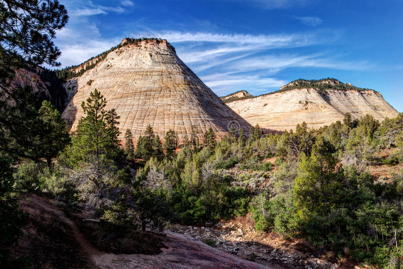 Scacchiera Mesa Zion National Park fotografie stock