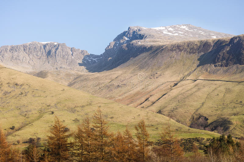 Scafell Pike stockfotos