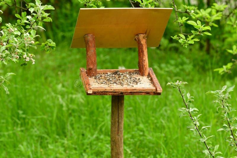 scaffale del foraggio per gli uccelli fotografie stock libere da diritti