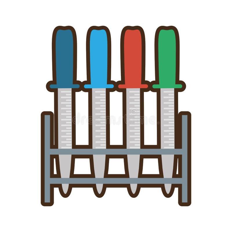 scaffale della medicina del contagoccia della pipetta vario royalty illustrazione gratis