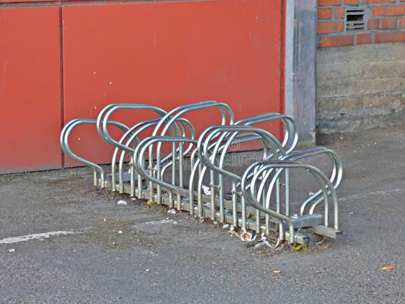 scaffale di bicicletta fotografia stock libera da diritti