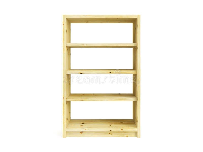 Scaffale di legno isolato illustrazione di stock