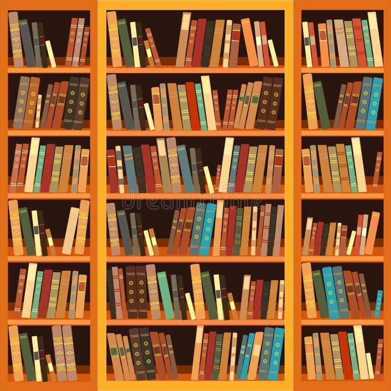 Scaffale in pieno dei libri illustrazione di stock